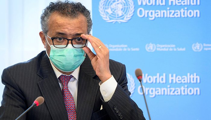 World Health Organization (WHO) Director General Tedros Adhanom Ghebreyesus speaks during a bilateral meeting with Swiss Interior and Health Minister Alain Berset on the sidelines of the opening of the 74th World Health Assembly at the WHO headquarters, in Geneva, Switzerland May 24, 2021. — Reuters/File