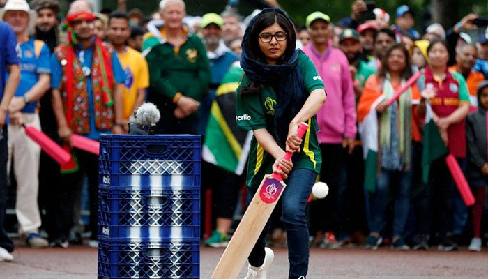 Malala Yousafzai during the ICC Cricket World Cup 2019 opening ceremony