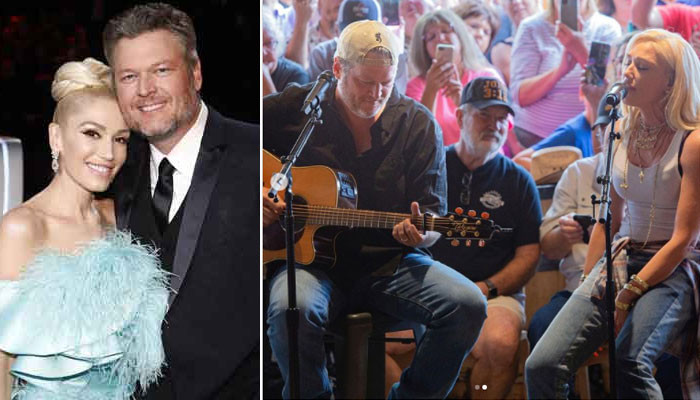 Gwen Stefani and Blake Shelton give fans a night to remember with their intimate performance - Geo News
