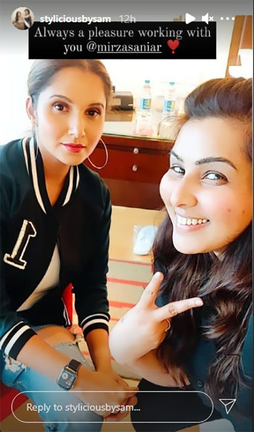 Tennis star Sania Mirza is having a good hair and makeup day