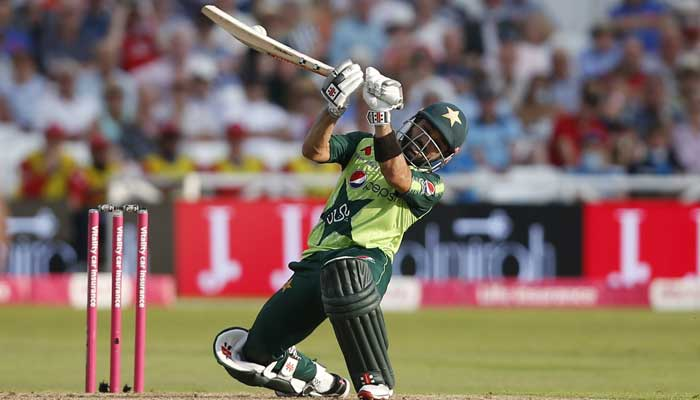 Pakistans Mohammad Rizwan in action during first T20.