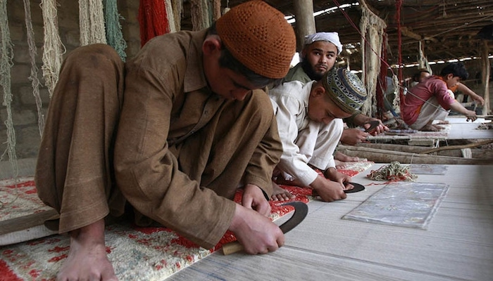 In 2015, Pakistan's exports of handmade carpets dipped from $300 million to $68 million. Photo: Reuters