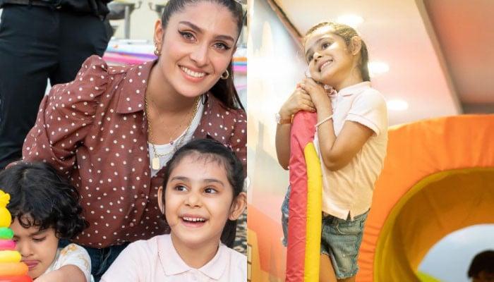 Ayeza Khan ensures safe birthday playdate for Hoorain amid COVID-19 - Geo News