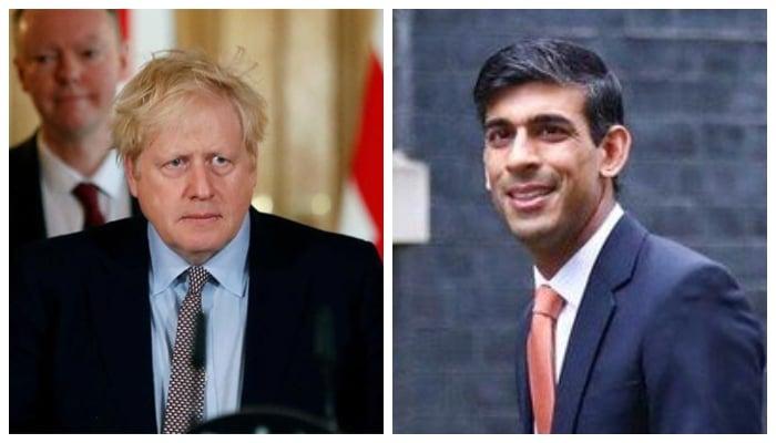 British Prime Minister Boris Johnson and his finance minister Rishi Sunak. Photo: Files