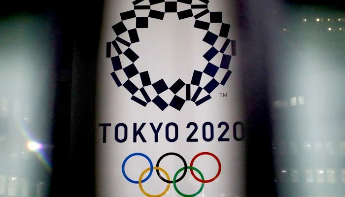 The logo of the Tokyo Olympic Games, at the Tokyo Metropolitan Government Office building in Tokyo, Japan, January 22, 2021. Photo: Reuters