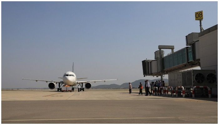 Representational image of an aeroplane standing on the runway. Photo: File