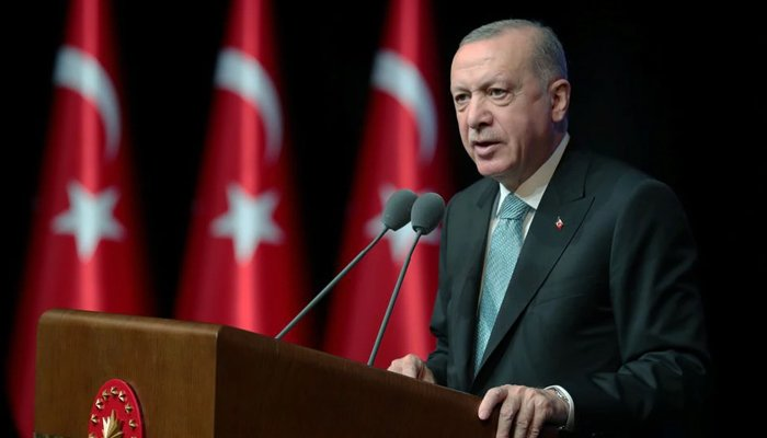 Turkish President Tayyip Erdogan speaks during an action plan meeting to prevent violence against women, in Ankara, Turkey July 1, 2021. — Reuters/File