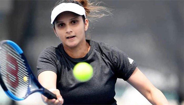 Indian tennis star Sania Mirza plays a shot. Photo: Files
