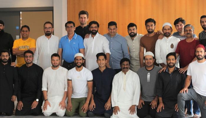 Former Pakistan captain Sarfaraz Ahmed leads Eid prayers in England