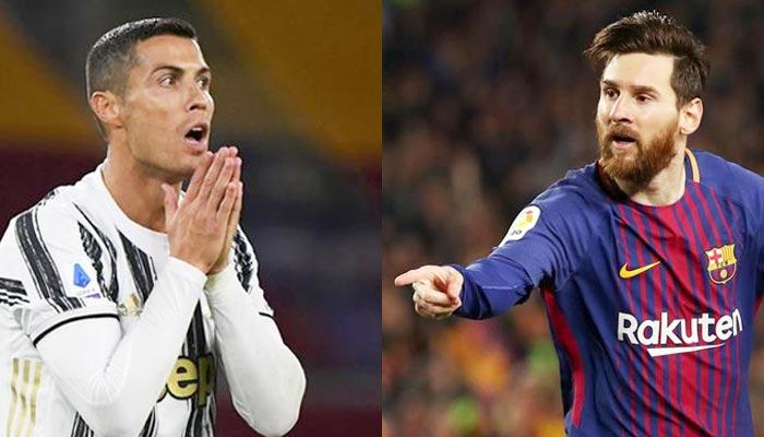 Cristiano Ronaldo (left) Football superstar Lionel Messi (right). — Reuters/File