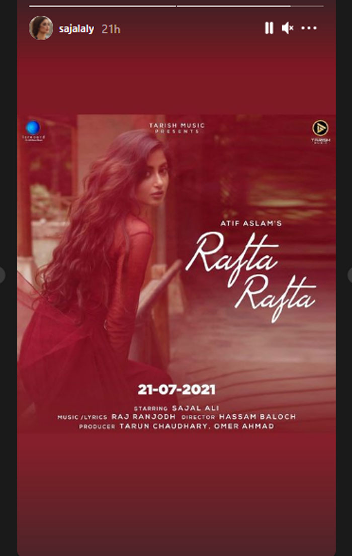 Atif Aslam's music video 'Rafta Rafta' to release on Wednesday