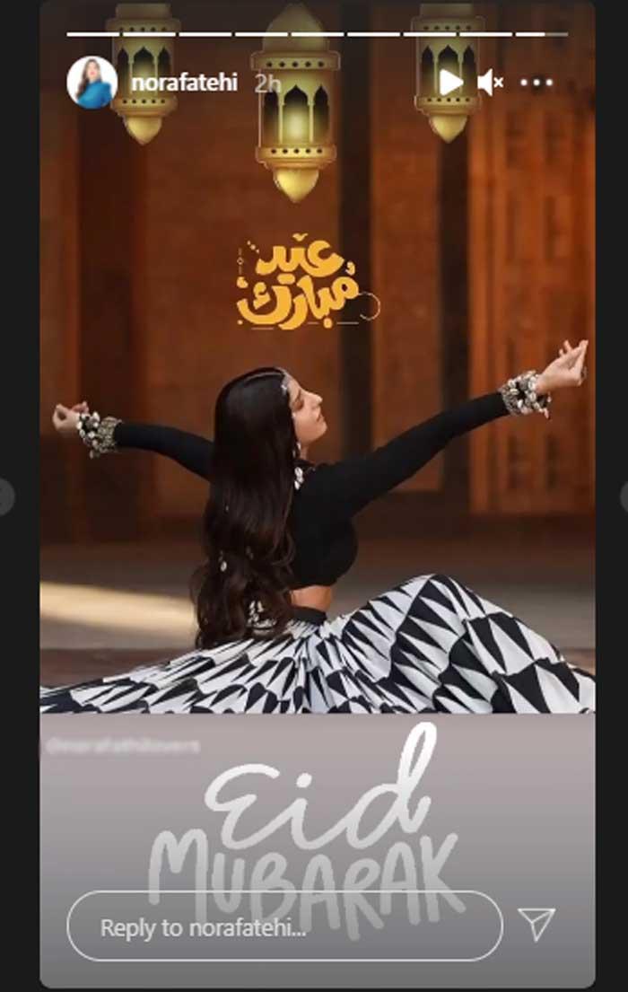 Nora Fatehi wishes her fans Eid Mubarak