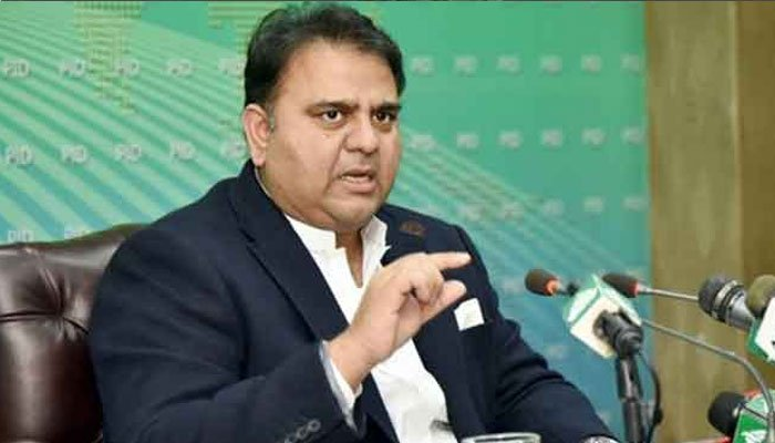 Minister for Information and Broadcasting Fawad Chaudhry (file photo)