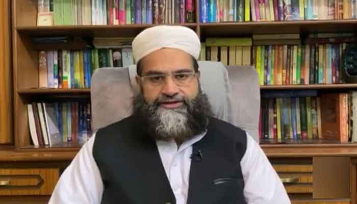 PUC Chairman and Special Representative to Prime Minister on Interfaith Harmony and Middle East Hafiz Tahir Mehmood Ashrafi. — Geo News screengrab