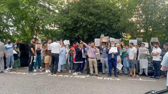 Geo News team attacked during London Afghan protest