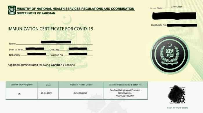 COVID-19 vaccination certificate mandatory for domestic air travel: NCOC