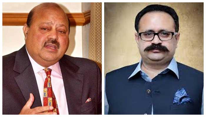 President PTI AJK Barrister Sultan Mehmood (L) andSardar Tanveer Ilyas (R).
