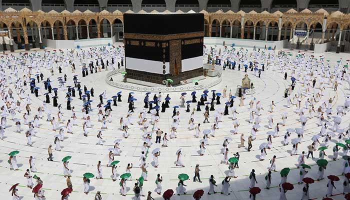 Pilgrims are performing Umrah amid Covid-19 pandemic.