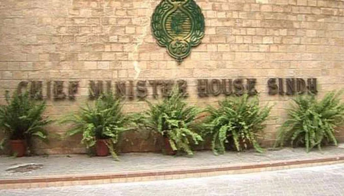 A file photo ofChief Minister House Sindh.
