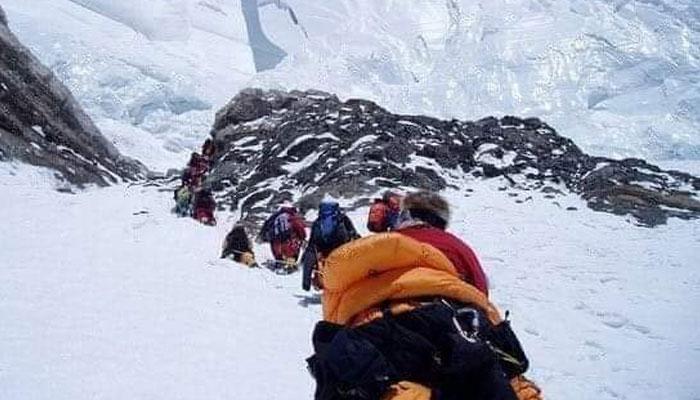 Climbers at K2.
