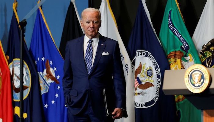 U.S. President Joe Biden departs after delivering remarks to members of the intelligence community workforce and its leadership during a visit to the Office of the Director of National Intelligence in nearby McLean, Virginia outside Washington, U.S., July 27, 2021. Photo: Reuters