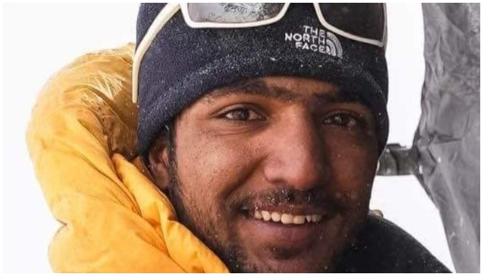 A picture of Sajid Ali Sadpara, captured during one of his summits. Twitter/Alpine Adventure Guides