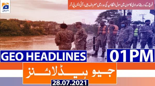 Geo Headlines 01 PM | 28th July 2021