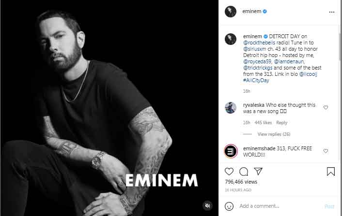 Eminem to host radio show to honour Detroit hip hop