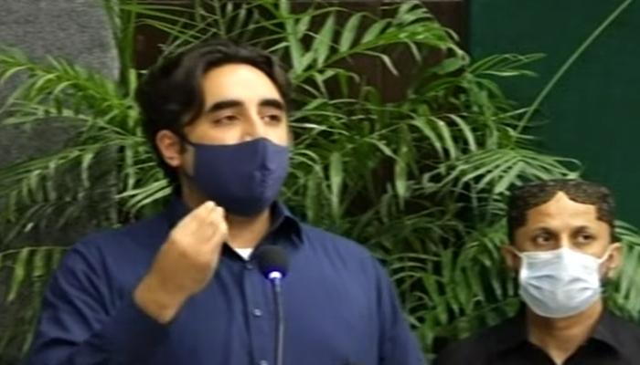 PPP Chairman Bilawal Bhutto-Zardariaddressing an event in Karachi, on July 29, 2021. — YouTube