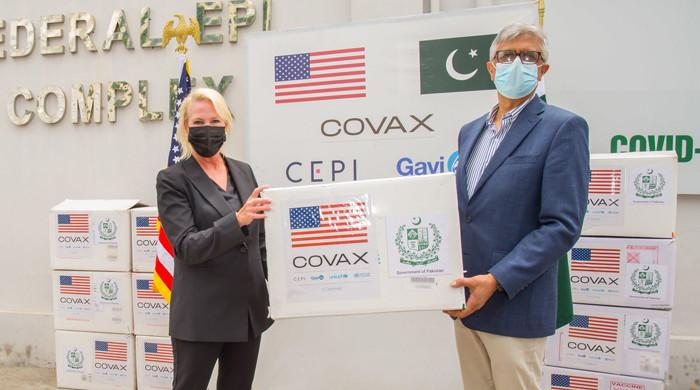 US embassy hands over 3 million Moderna vaccine doses to Islamabad