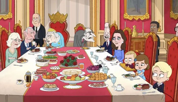 Queen, William, Kate, Harry and Meghan mocked by newly released cartoon The Prince