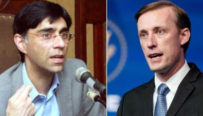 Pakistan National Security Adviser Moeed Yusuf (left) and his US counterpartJake Sullivan
