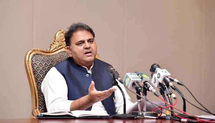 Minister for Information and Broadcasting Fawad Chaudhry. — PID/File
