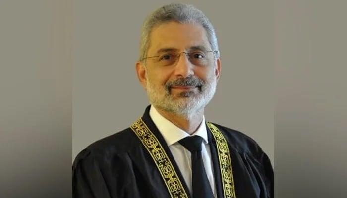 Supreme Court judge Justice Qazi Faez Isa. — Photo courtesy Supreme Court of Pakistan