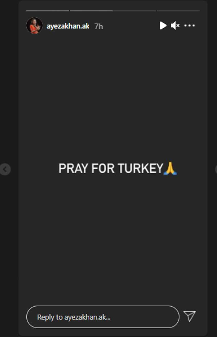 Ayeza Khan prays for Turkey as wildfires force more people to flee homes