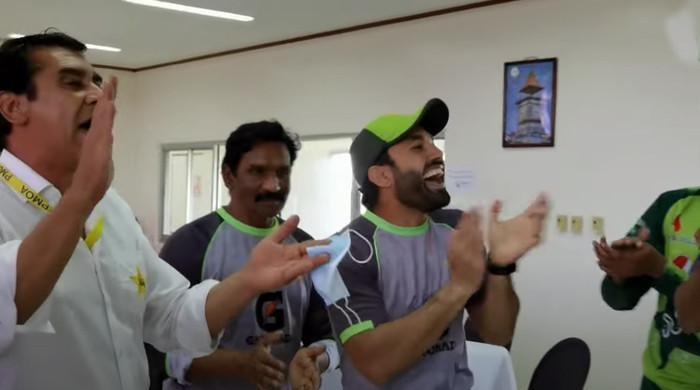 Pak vs WI: Pakistan team celebrate Mohammad Rizwan's world record of most T20 runs in a year