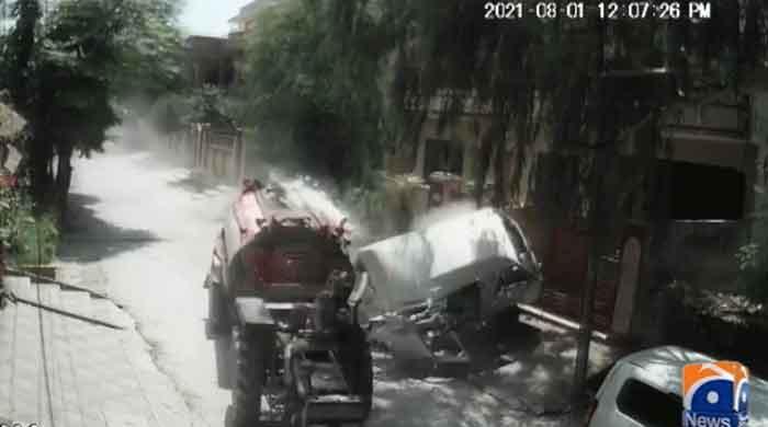 WATCH: Speeding water tanker in Rawalpindi leaves trail of destruction