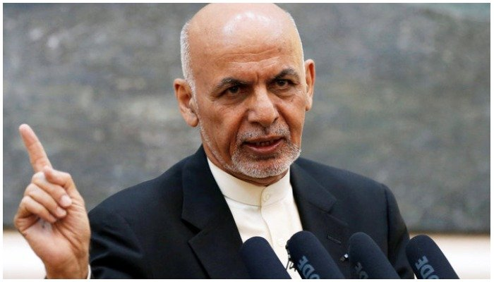 Afghan President Ashraf Ghani speaks during a news conference in Kabul. Reuters