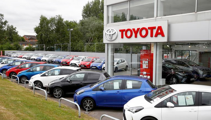 Cars are seen outside the Toyota car showroom in Stockport, following the outbreak of the coronavirus disease (COVID-19), Stockport, Britain, May 26, 2020. — Reuters/File