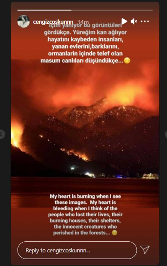 Ertugrul's Turgut Alp grieved over loss of lives in Turkey wildfires