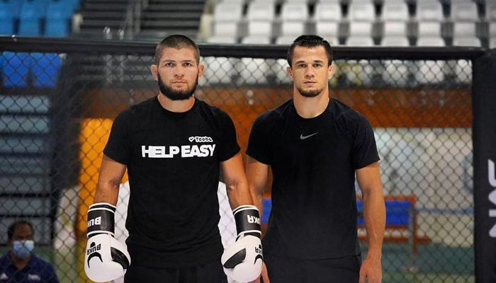 Khabib Nurmagomedov (left) and Usman Nurmagomedov — Instagram/@usman_nurmagomedov/File