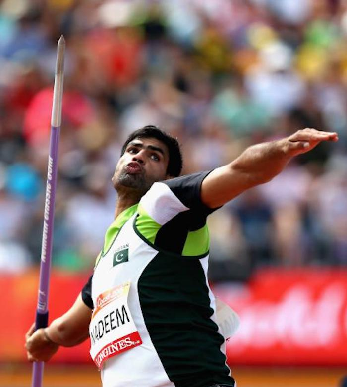 Arshad Nadeem first came into the limelight in 2016 when he won the bronze at the South Asian Games in Guwahati. Photo: Geo.tv/ file