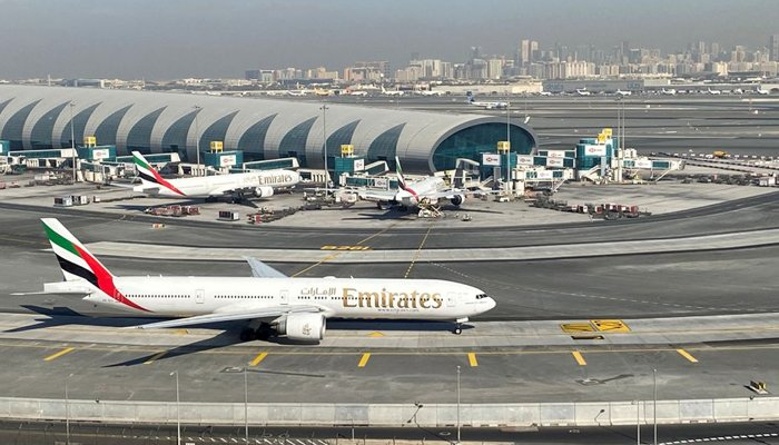 Emirates airliners are seen on the tarmac in a general view of Dubai International Airport in Dubai, United Arab Emirates January 13, 2021. —Reuters/File