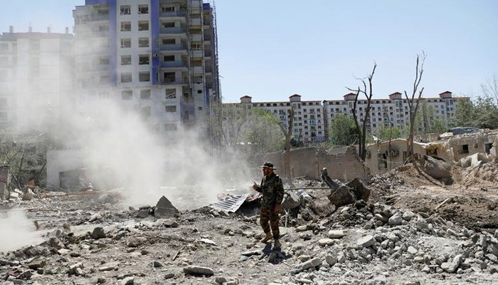 An Afghan National Army (ANA) soldier stands at the site of a blast in Kabul, Afghanistan July 2, 2019. — Reuters/File