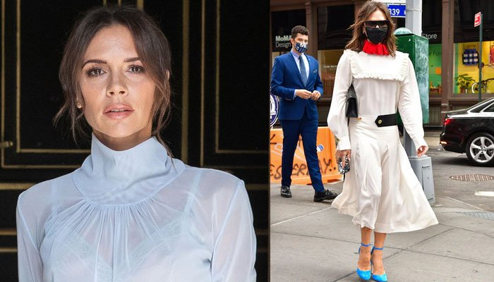 Victoria Beckham leaves fans divided as she shares her new royal-styled dress