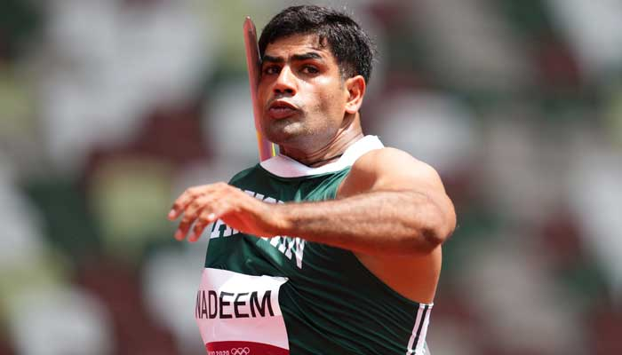 Arshad Nadeem of Pakistan in action during Tokyo Olympics 2020. -REUTERS