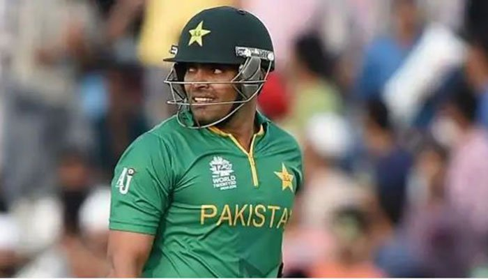 Pakistan batsman Umar Akmal looks on during a match. Photo: File