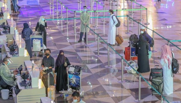 Passengers at Saudi Arabias King Abdulaziz International Airport. — Twitter/@Saudi_Gazette