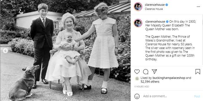 Clarence House shares throwback picture of Prince Charles with his grandmother