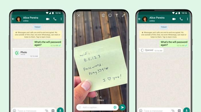WhatsApp rolls out 'View Once' photos, videos